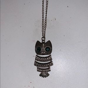 Extra long owl necklace